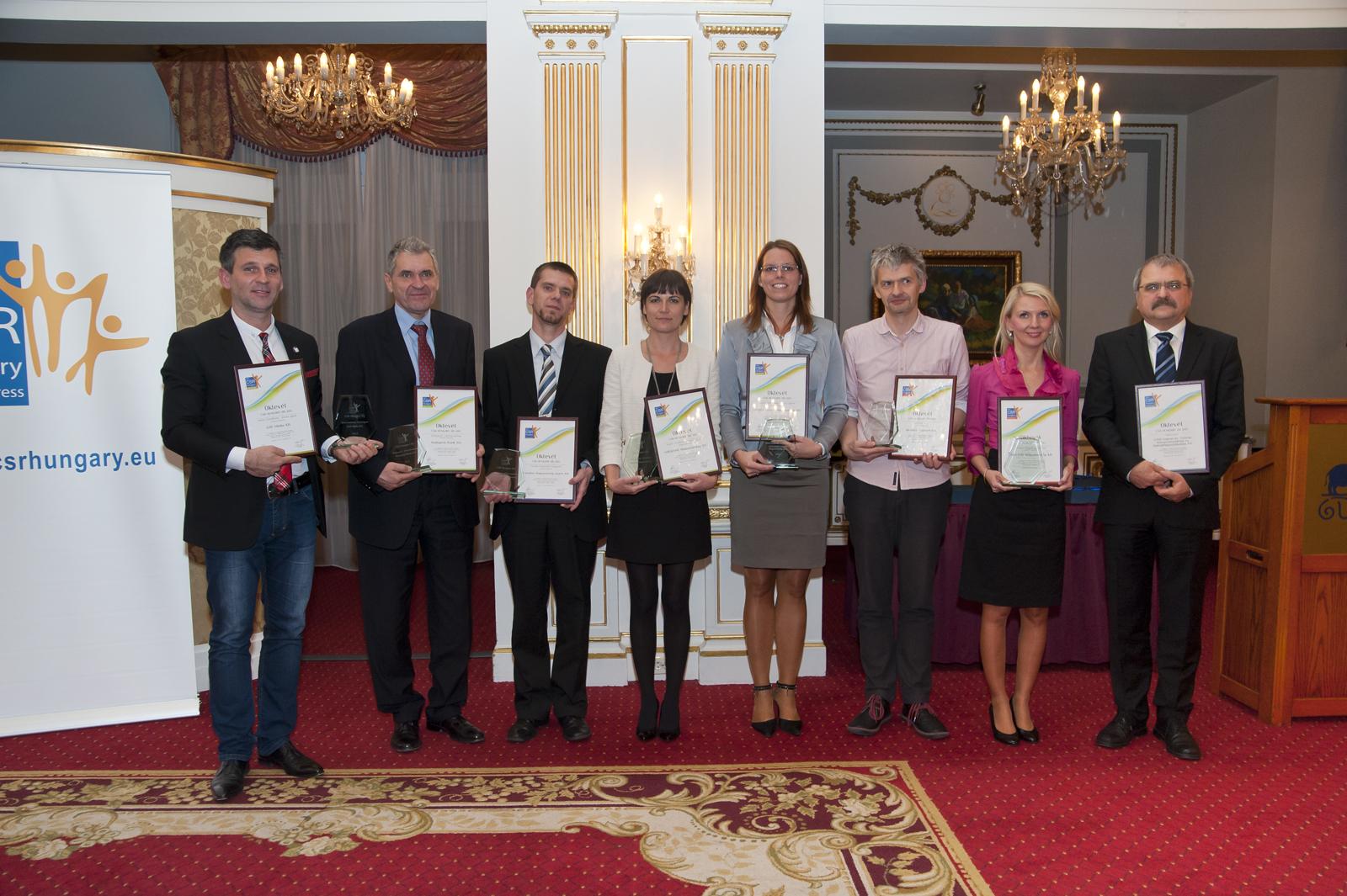 CSR Hungary díjazottak 2013